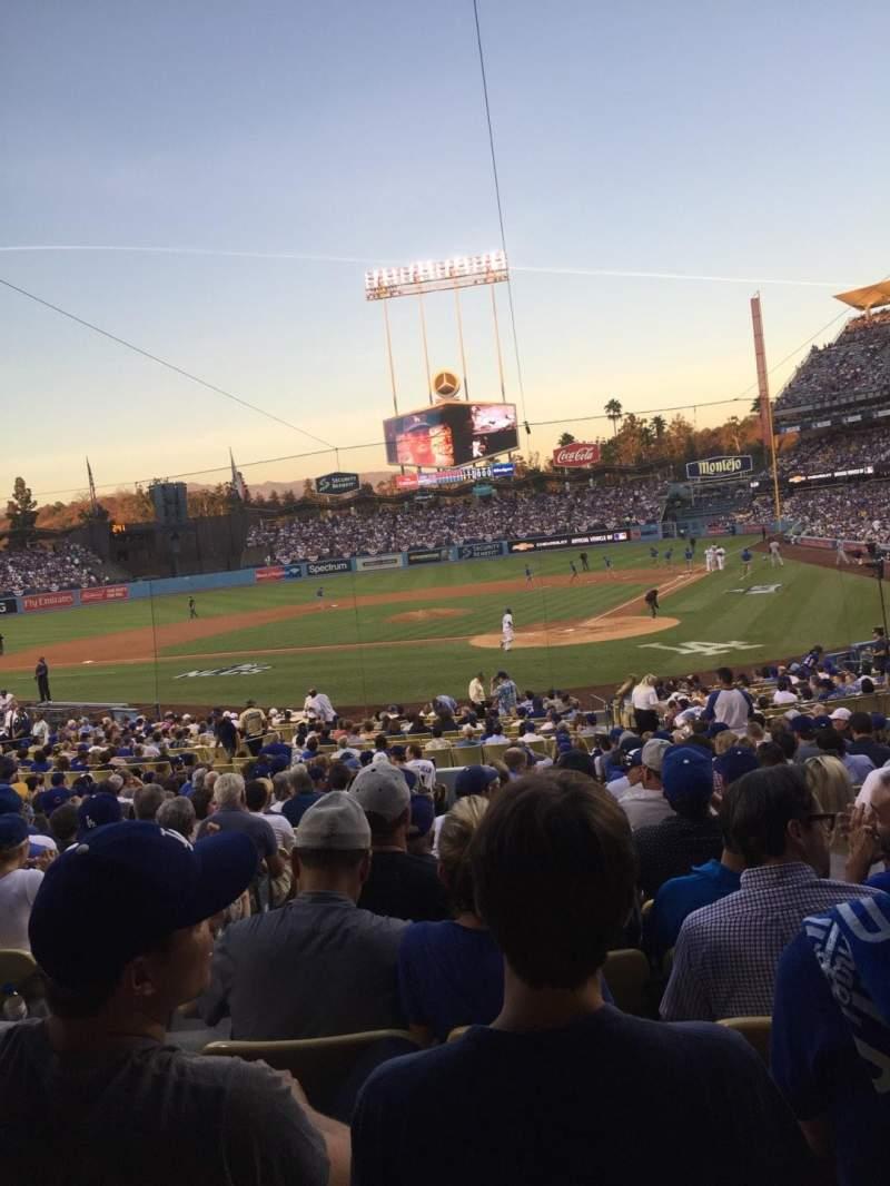 Vista sentada para Dodger Stadium Secção 5FD Fila U Lugar 12