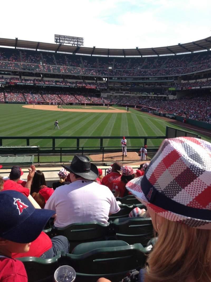 Vista sentada para Angel Stadium Secção 259 Fila S Lugar 2