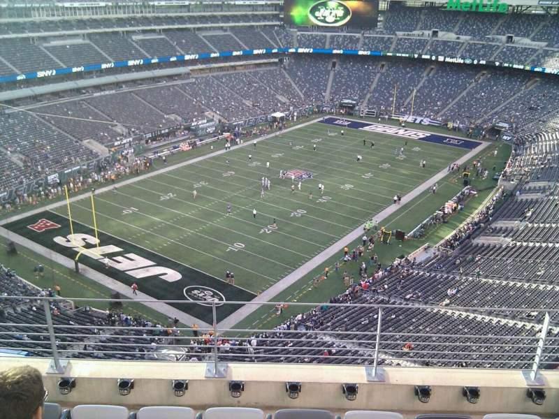 Vista sentada para MetLife Stadium Secção 321 Fila 9 Lugar 11