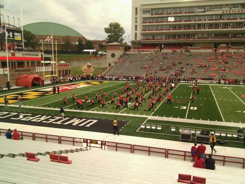 Vista sentada para Maryland Stadium Secção 4 Fila z Lugar 15