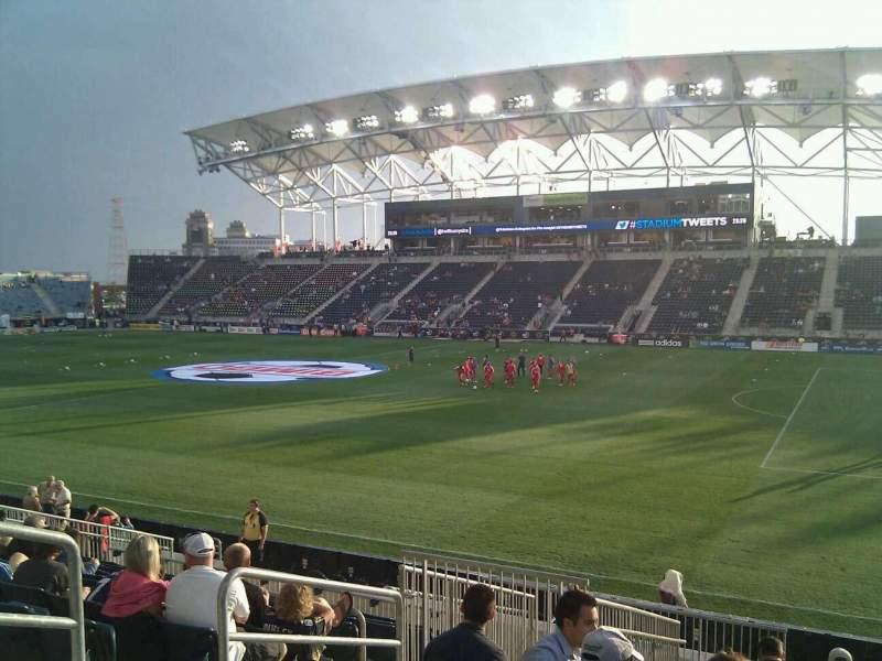 Vista sentada para Talen Energy Stadium Secção 123 Fila r Lugar 16