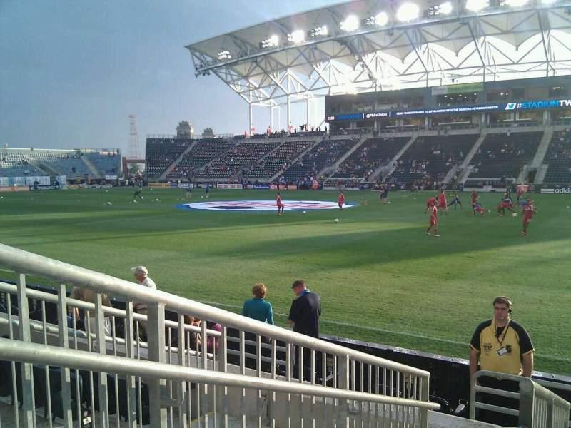 Vista sentada para Talen Energy Stadium Secção 124 Fila f Lugar 14