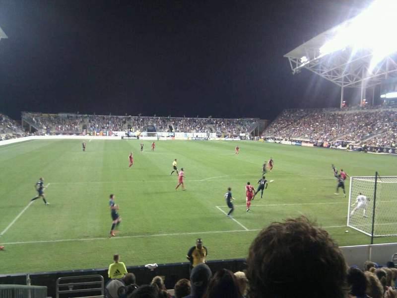 Vista sentada para Talen Energy Stadium Secção 118 Fila k Lugar 18