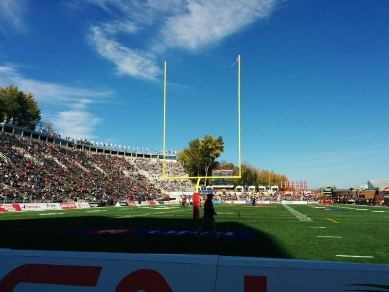 Vista sentada para Percival Molson Memorial Stadium