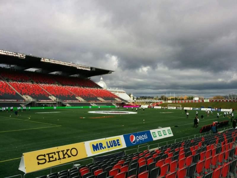 Vista sentada para TD Place Stadium Secção W Fila 12 Lugar 23