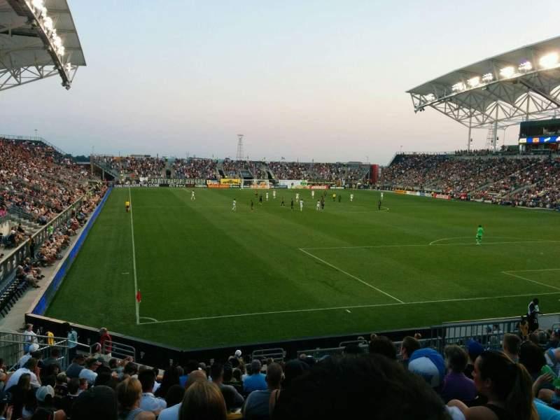 Vista sentada para Talen Energy Stadium Secção 120 Fila R Lugar 19