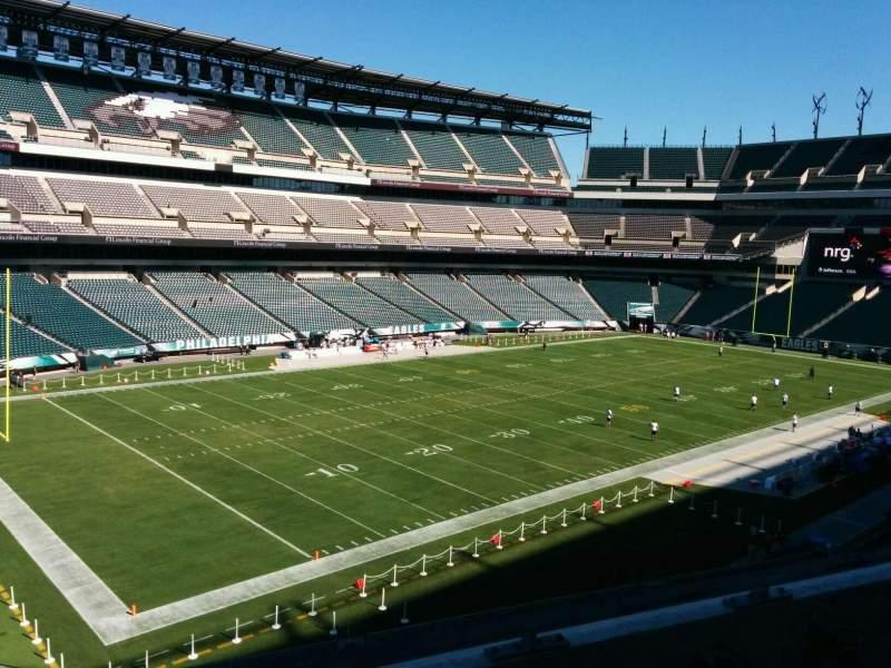 Vista sentada para Lincoln Financial Field Secção c35 Fila 3 Lugar 8