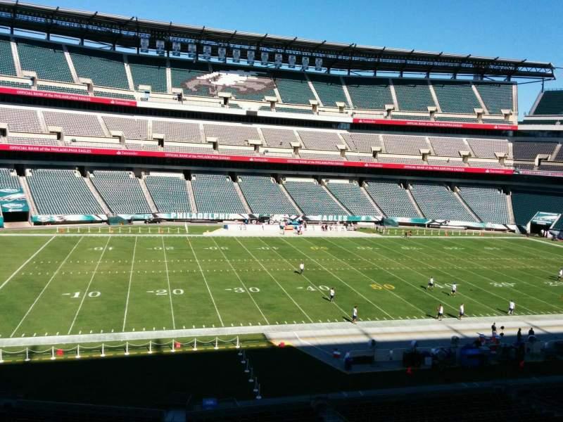 Vista sentada para Lincoln Financial Field Secção c38 Fila 4 Lugar 1