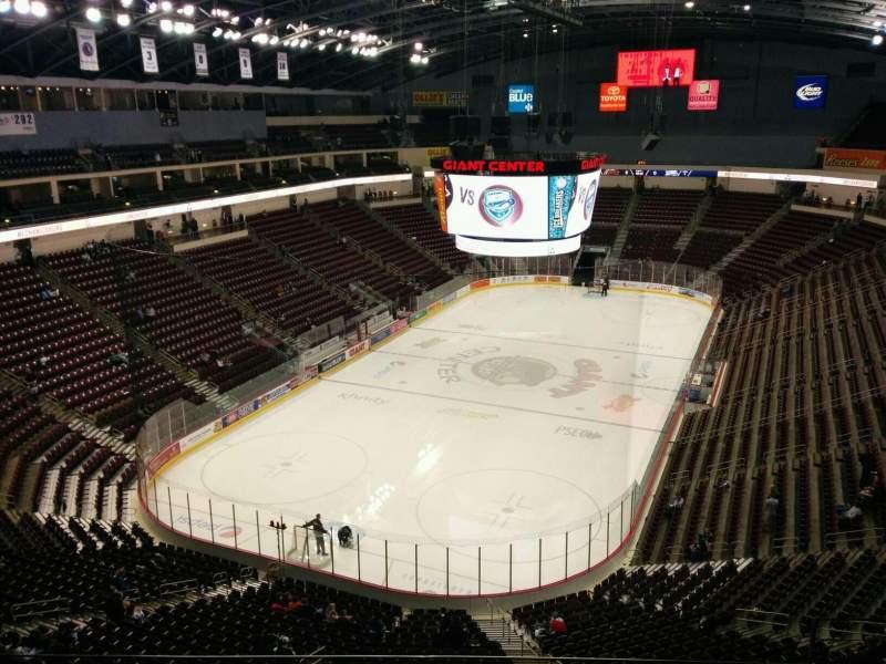 Vista sentada para Giant Center Secção 202 Fila g Lugar 11