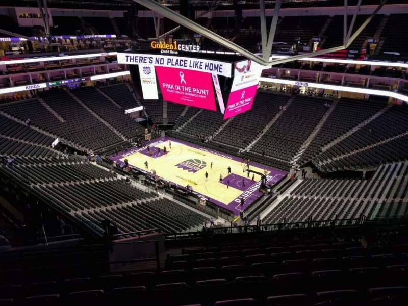 Vista sentada para Golden 1 Center Secção 202 Fila n Lugar 17