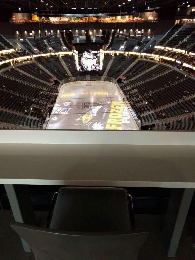 Vista sentada para T-Mobile Arena Secção 214 Fila wc