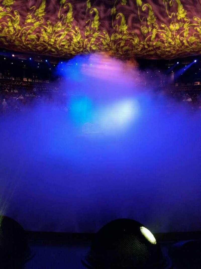 Vista sentada para Wynn Theatre Secção c Fila b Lugar 11