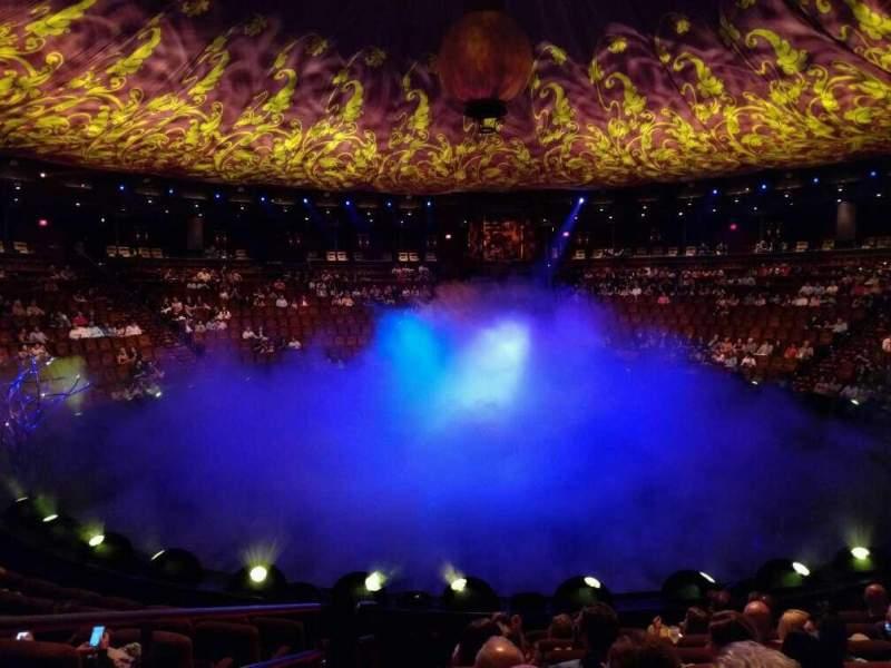 Vista sentada para Wynn Theatre Secção a Fila h Lugar 28