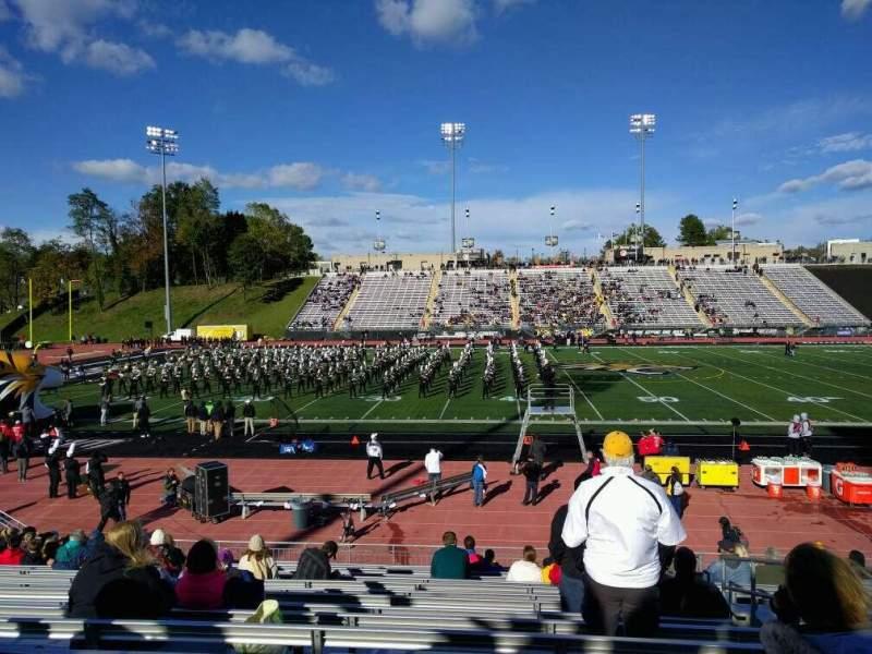 Vista sentada para Johnny Unitas Stadium Secção 112 Fila r Lugar 4