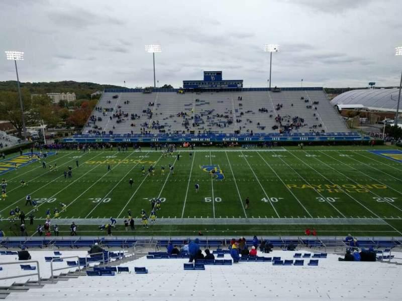 Vista sentada para Delaware Stadium Secção k Fila mm Lugar 21