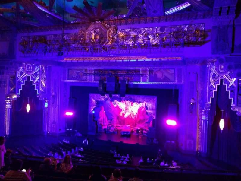 Vista sentada para Hollywood Pantages Theatre Secção Mezzanine RC Fila h Lugar 209