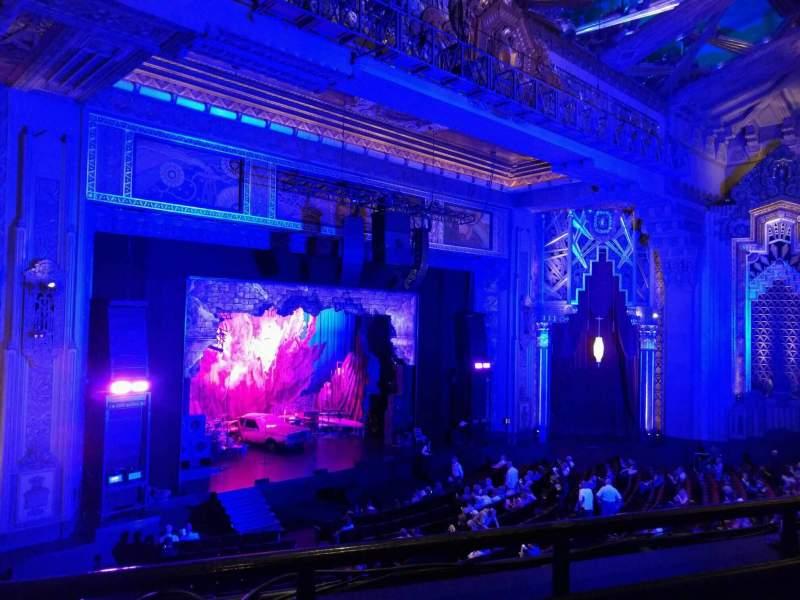 Vista sentada para Hollywood Pantages Theatre Secção Mezzanine L Fila b Lugar 9