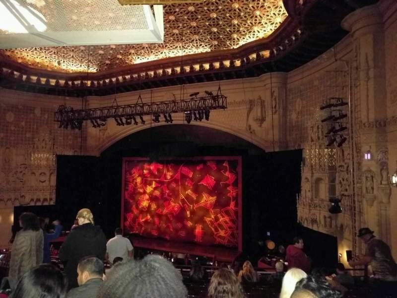 Vista sentada para Orpheum Theatre (San Francisco) Secção Mezzanine R Fila l Lugar 20