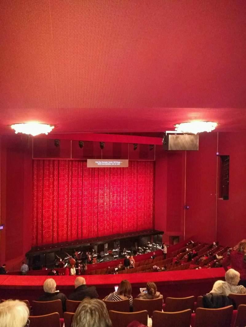 Vista sentada para The Kennedy Center Opera House Secção 1st tier Fila f Lugar 127