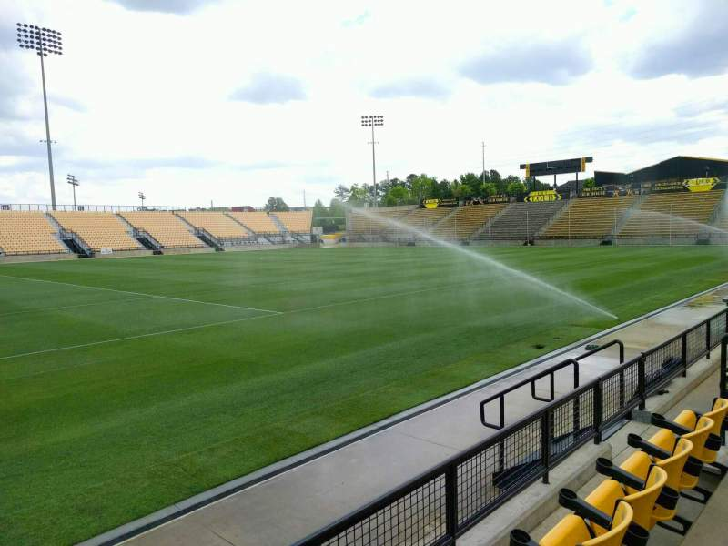 Vista sentada para Fifth Third Bank Stadium Secção 105 Fila c Lugar 9
