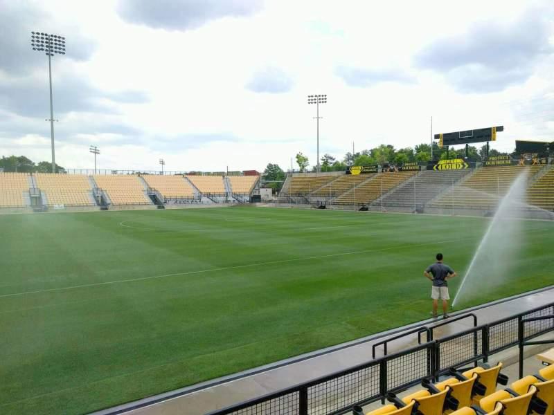 Vista sentada para Fifth Third Bank Stadium Secção 107 Fila e Lugar 9