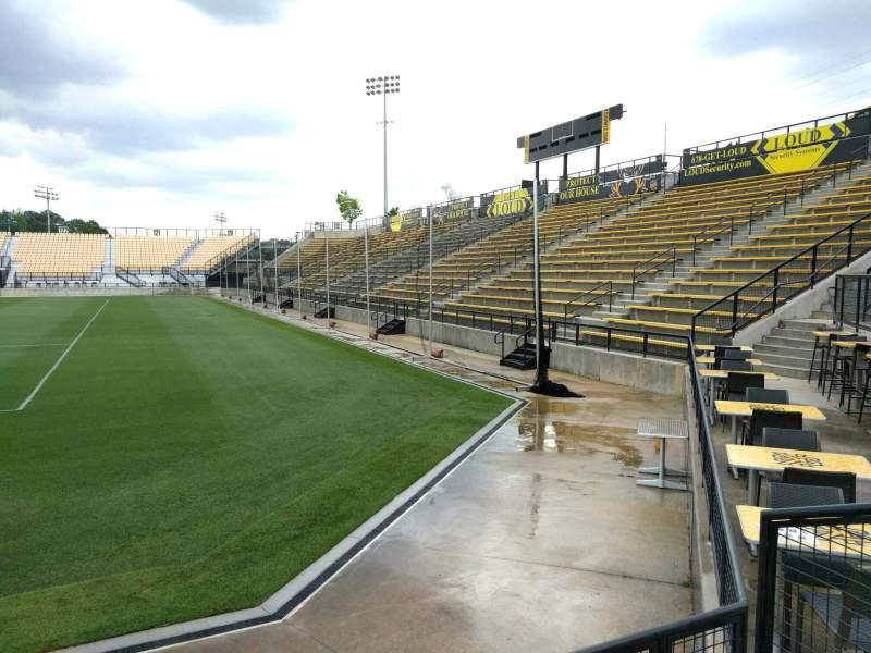 Vista sentada para Fifth Third Bank Stadium Secção 111 Fila c Lugar 4