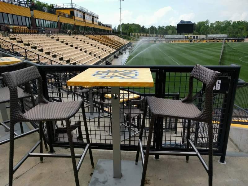 Vista sentada para Fifth Third Bank Stadium Secção c6