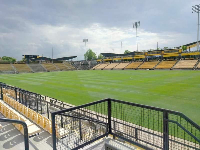 Vista sentada para Fifth Third Bank Stadium Secção 131 Fila g Lugar 4