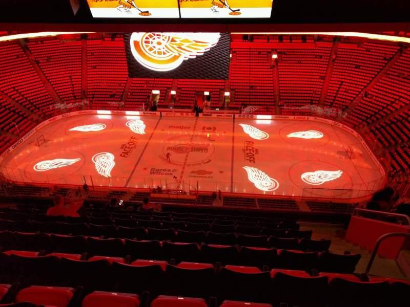 Vista sentada para Little Caesars Arena Secção 211 Fila 9 Lugar 6
