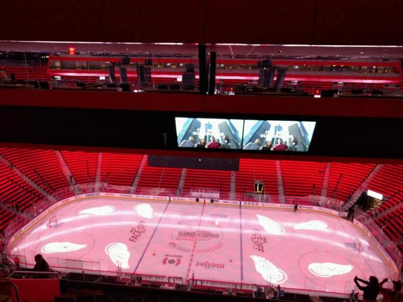 Vista sentada para Little Caesars Arena Secção 225 Fila 11 Lugar 10