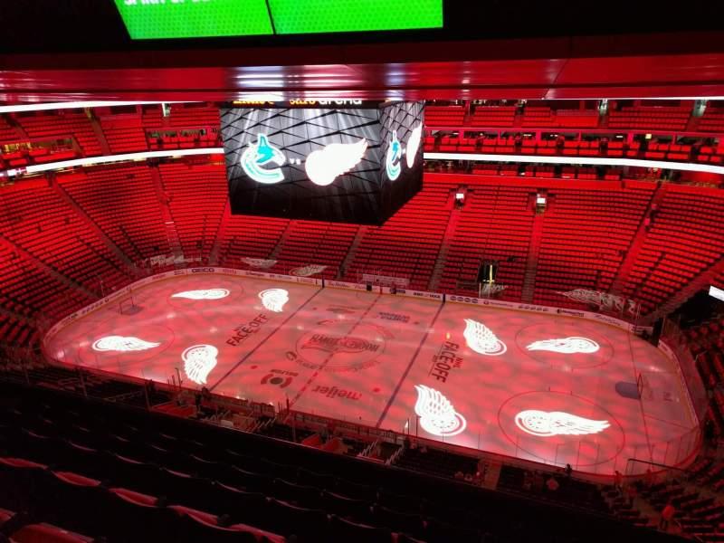 Vista sentada para Little Caesars Arena Secção 225 Fila 7 Lugar 4