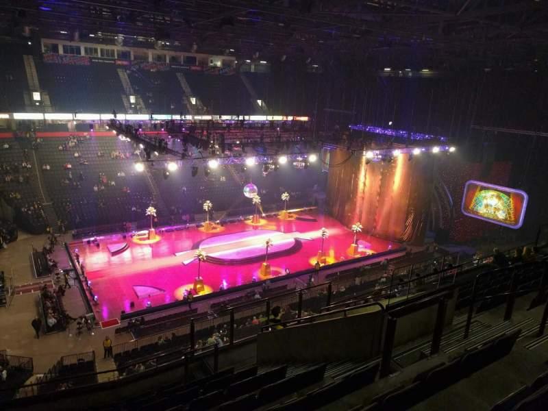 Vista sentada para Manchester Arena Secção 212 Fila k Lugar 21