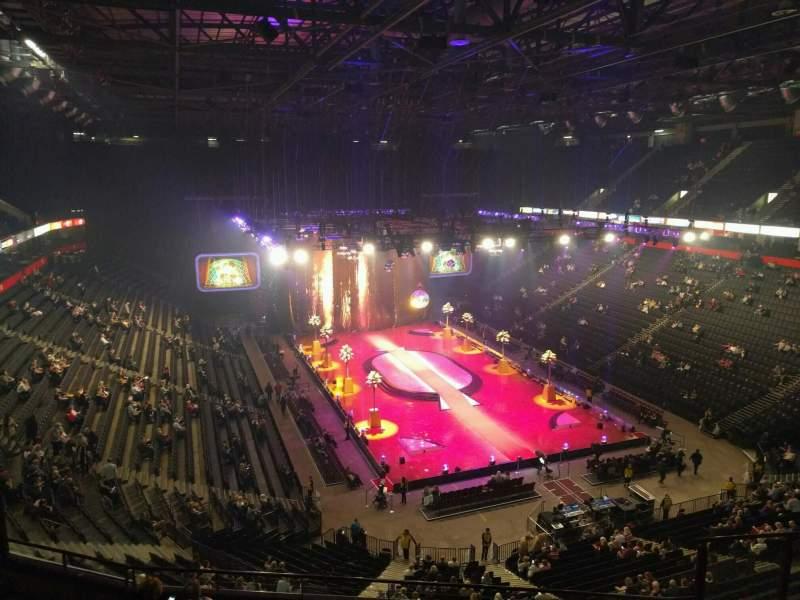 Vista sentada para Manchester Arena Secção 207 Fila h Lugar 18
