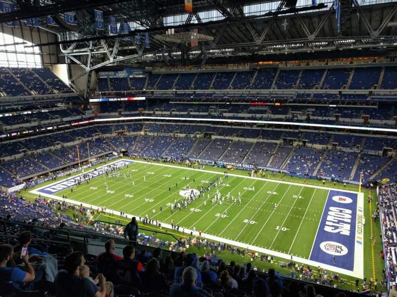 Vista sentada para Lucas Oil Stadium Secção 609 Fila 13 Lugar 13