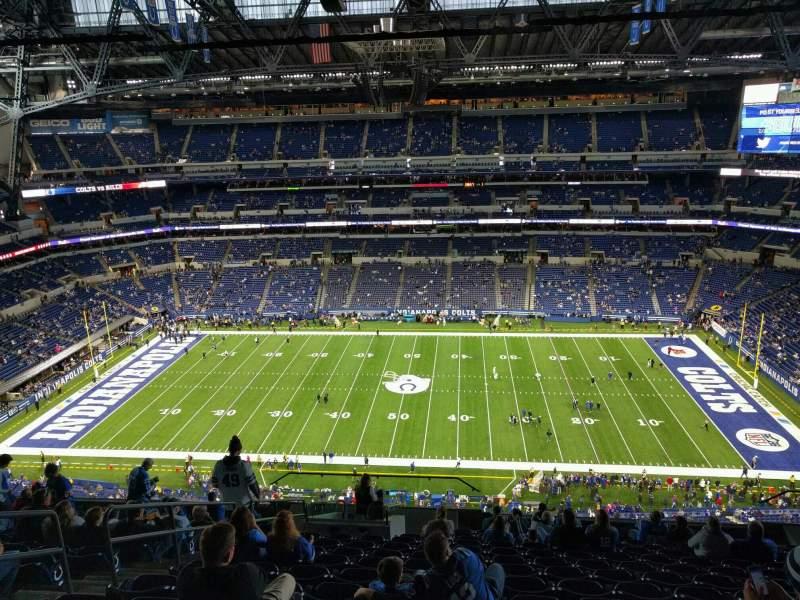 Vista sentada para Lucas Oil Stadium Secção 612 Fila 14 Lugar 19