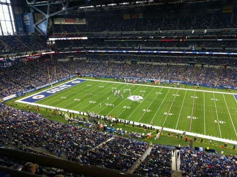 Vista sentada para Lucas Oil Stadium Secção 538 Fila 5w Lugar 1