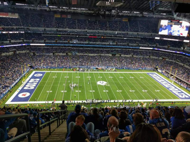 Vista sentada para Lucas Oil Stadium Secção 641 Fila 17 Lugar 24