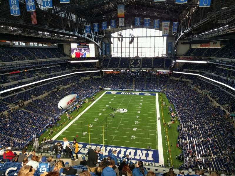 Vista sentada para Lucas Oil Stadium Secção 625 Fila 15 Lugar 12