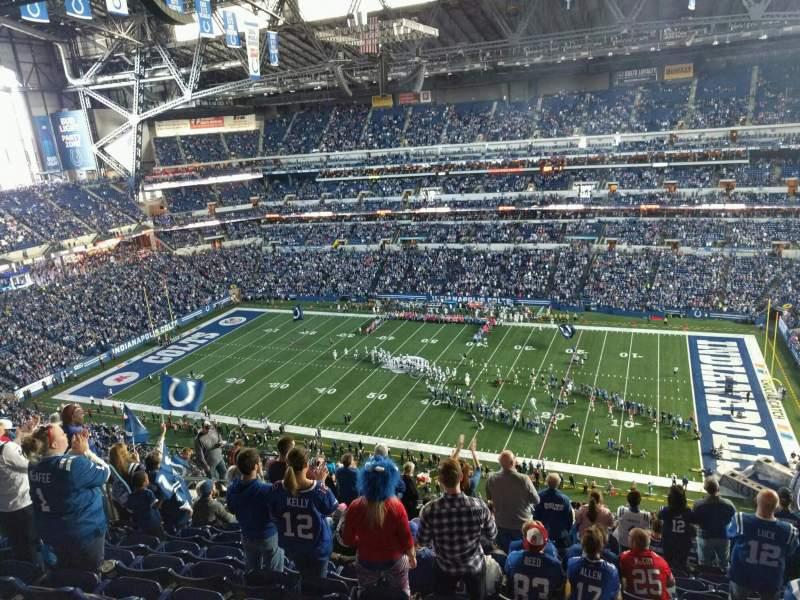 Vista sentada para Lucas Oil Stadium Secção 637 Fila 13 Lugar 13