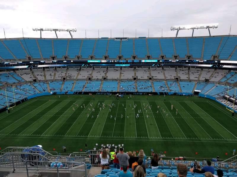 Vista sentada para Bank of America Stadium Secção 514 Fila 12 Lugar 17
