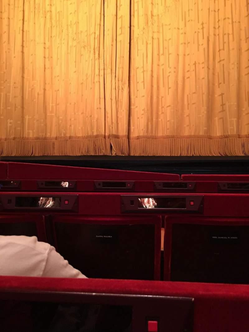 Vista sentada para Metropolitan Opera House - Lincoln Center Secção Orch Fila C Lugar 112
