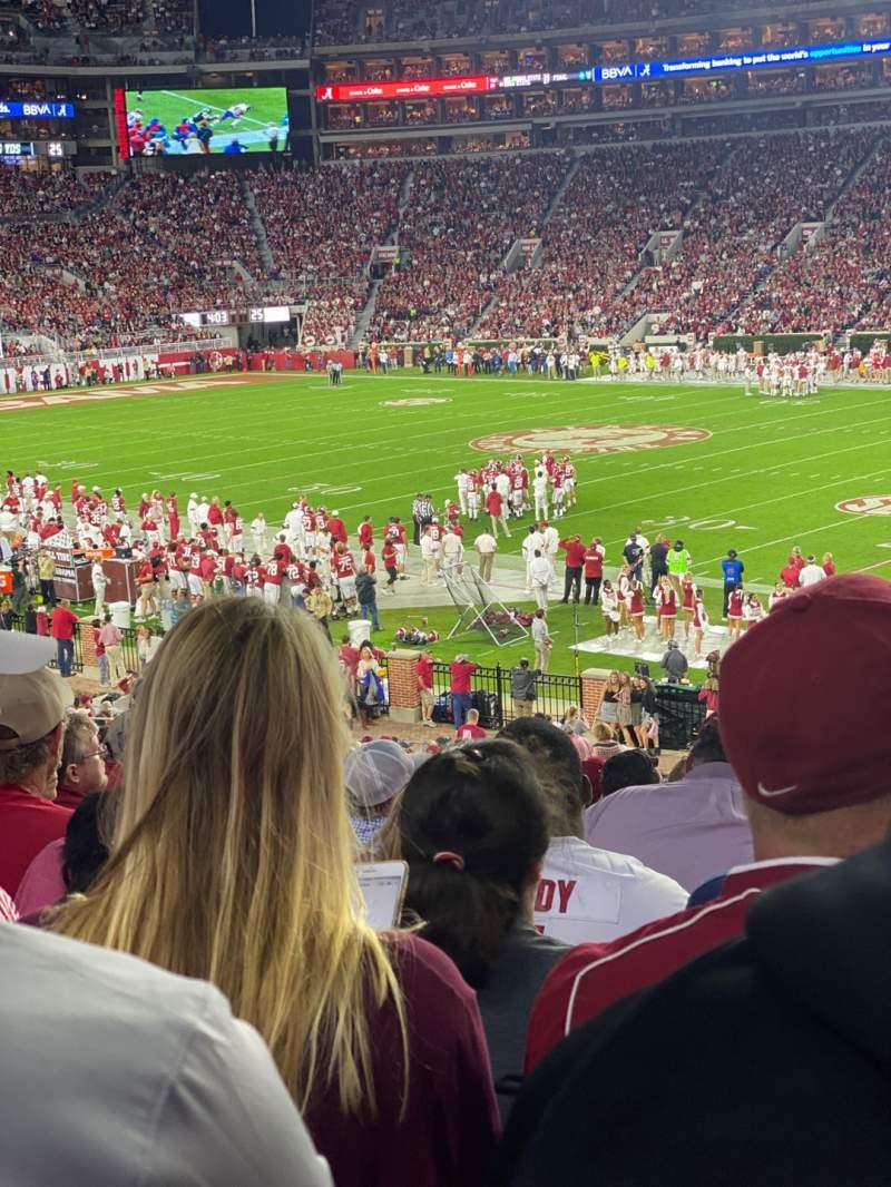 Vista sentada para Bryant-Denny Stadium Secção C Fila 37 Lugar 7