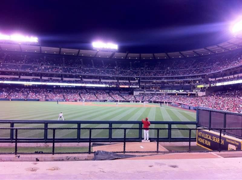 Vista sentada para Angel Stadium Secção 259 Fila G Lugar 10