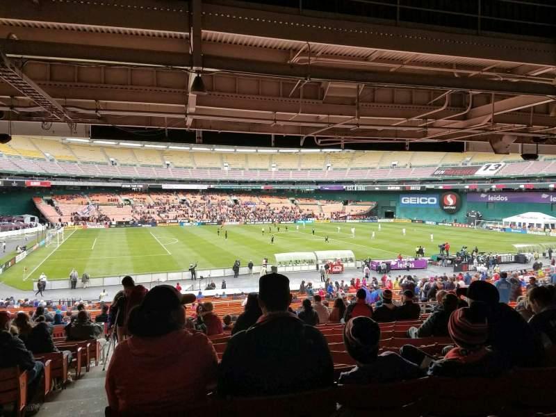 Vista sentada para RFK Stadium Secção 310 Fila 13 Lugar 18