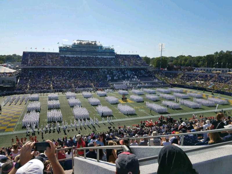 Vista sentada para Navy-Marine Corps Memorial Stadium Secção 131 Fila 17 Lugar 11