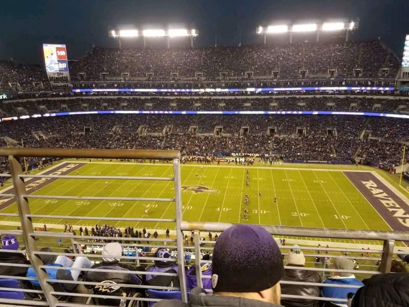 Vista sentada para M&T Bank Stadium Secção 525 Fila 5 Lugar 14