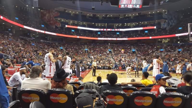 Vista sentada para Scotiabank Arena Secção 114 Fila B Lugar 12