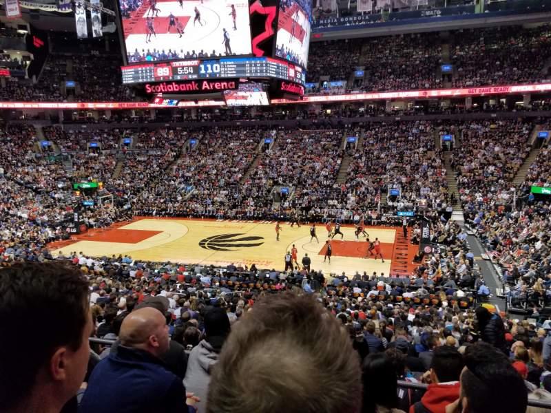 Vista sentada para Scotiabank Arena Secção 118 Fila 27 Lugar 6