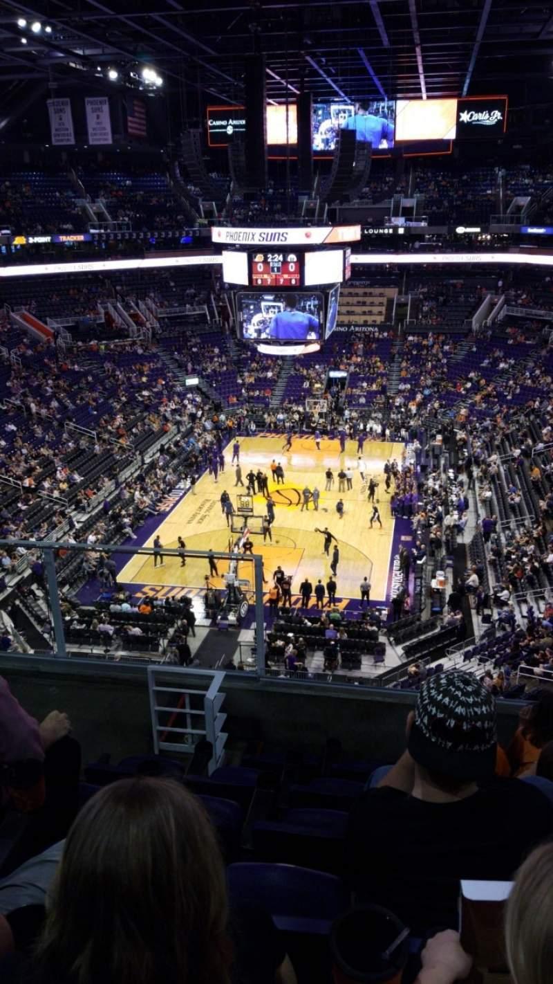 Vista sentada para PHX Arena Secção 210 Fila 6 Lugar 13