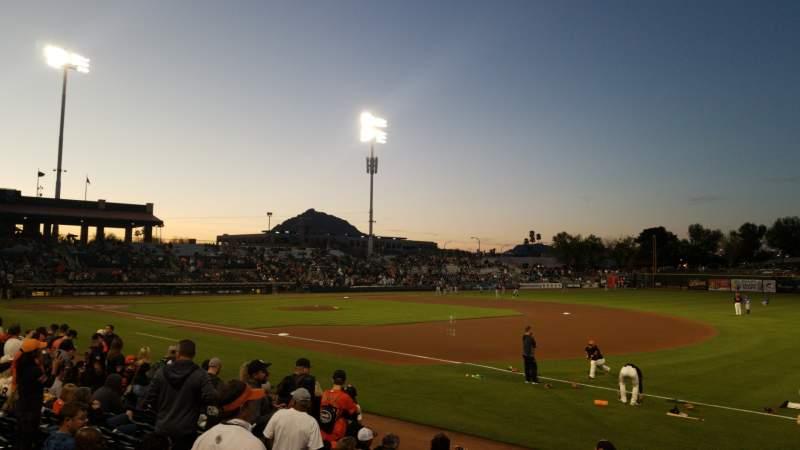 Vista sentada para Scottsdale Stadium Secção 126 Fila 12 Lugar 4